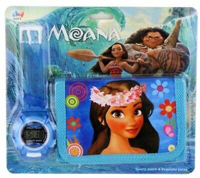 Moana Digital Watch & Wallet Gift Set For Kids Boys GirlsChildren Christmas 2019 ()