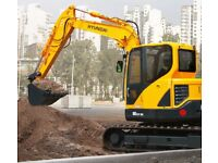 8 Ton Digger hire + Driver if required