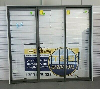 Aluminium Center Opening Door 2420H x 2690W (Item 4867) Woodland Grey