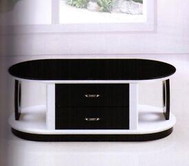 Coffee Table Gloss Black & White