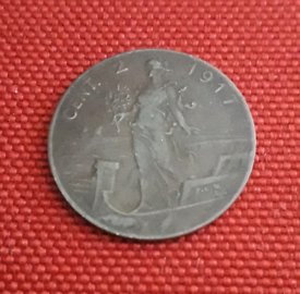 World War 1 - 1917 Italian coin