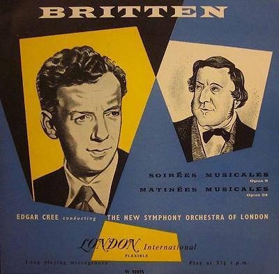 """Britten(10"""" Vinyl)Soirees/Matinee Musicales-London International-W 9107-Ex/NM"""