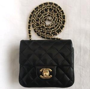 58b8fa0f88e7 Auth chanel mini square flap bag