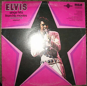 ELVIS - SINGLE HITS FROM HIS MOVIES (1975) Vinyl LP