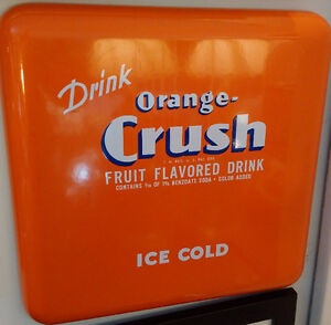 Enamel Orange Crush Advertising