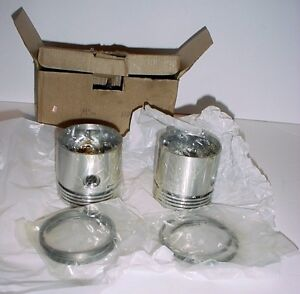 Vintage after market Indian Scout motorcycle pistons