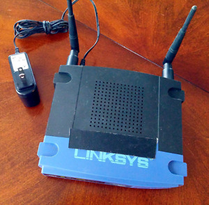 Linksys WRT-54GS running DD-WRT firmware.