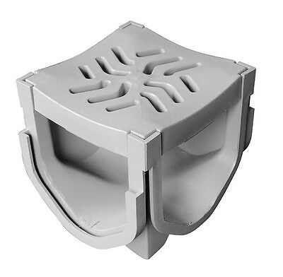 Source 1 Drainage Trench & Driveway Channel Drain Quad Connector Home & Garden