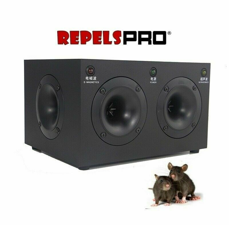 MAXIPRO Scarer mice rats and cockroaches with a range of 550 sq meter 4 speakers