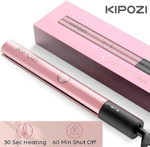 KIPOZI Hair Straightener Curler Titanium Styler Instant Heat
