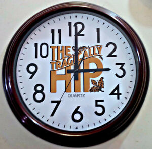 "THE TRAGICALLY HIP 16"" INCH WALL CLOCK"
