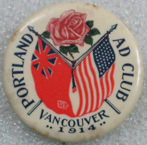 Vancouver - British Columbia - Celluloid Pinback Button