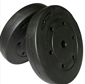 Brand new 2x10kg vinyl weight plates