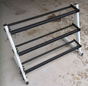 Three layer dumbbells rack in mint condition