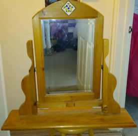 Mexican Pine Dressing-Table Mirror
