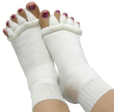 Hot Men Women Cotton Socks Foot Toes Alignment Stretch Tendon Relieve QY
