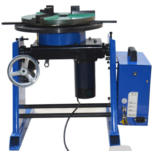 110V 30KG Rotary Welding Positioner with 7.8''/200mm 3 Jaw Lathe Chuck 1~15RPM