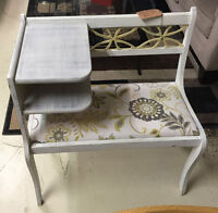 Antique Chalk Painted Telephone Table