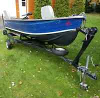 GET THE FALL PRICE for this 14' Springbok Aluminum Fishing Boat