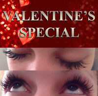 Eyelash Extensions - VALENTINE'S SPECIAL!