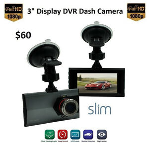 "1080P 3.0"" Display Dash DVR Camera (32GB Card Included)"