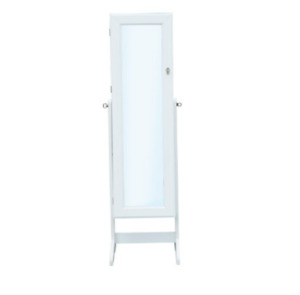 Standing Mirror Jewelry Armoire White New in Box