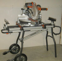 "12"" Ridgid Sliding Compound Mitre Saw & Stand"