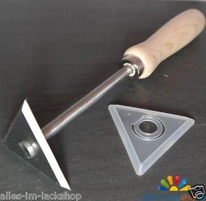 Dreikantschaber Glasschaber Fensterschaber Fugenschaber mit 6cm Klinge