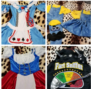 Costumes  (minions small all others are one size fits all.