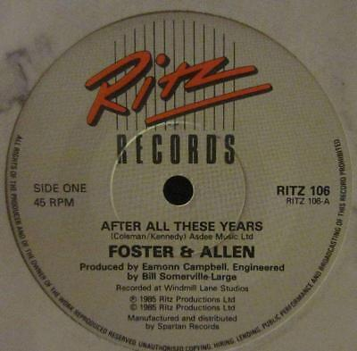 "Foster And Allen(7"" Vinyl)After All These Years-Ritz-RITZ 106-UK-1985-VG/Ex"