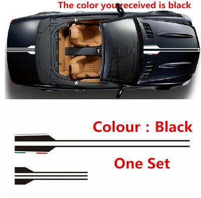 One Set Black Vinyl Vehicle Hood Car Body Stickers Graphics Decals Decoration