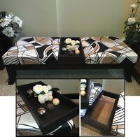 Immaculate! High Quality Wood & Fabric Coffee Table / Bench