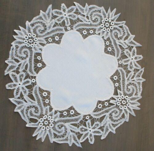 """20"""" Round Hand-Made Antique Victorian 20"""" ROUND  Battenburg Lace Doily GORGEOUS"""