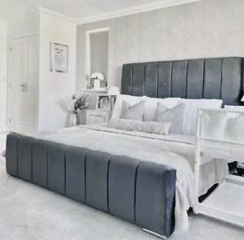 💜BRAND NEW DESIGNER BED FRAMES BED OUTLET SALE PLUSH VELVET ALL SIZE