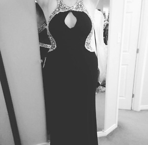 Black Formal Dress With Matching Heels ! ONLY WORN ONCE!!