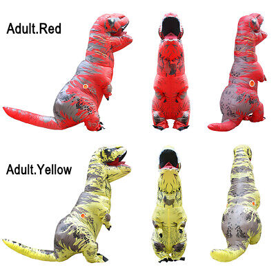 Inflatable T-Rex Dinosaur Costume Adult Fancy Dress Halloween X'mas Blow Up Suit - Blow Up T Rex