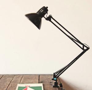 Black Flexible Swing Arm Clamp Mount Lamp