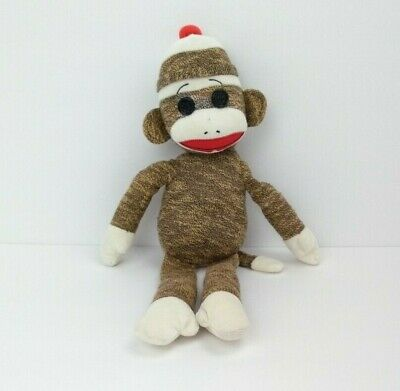 Ty Beanie Buddies Baby Socks the Sock Monkey Tan Corduroy 2011 Toy