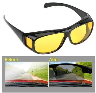 Überzieh Nachtsichtbrille Autofahrer Brillenträger getönte polarisierende Gläser