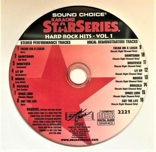 SOUND CHOICE KARAOKE STAR SERIES CD+G - 2221- Hard Rock Hits- VOL 1- CDG