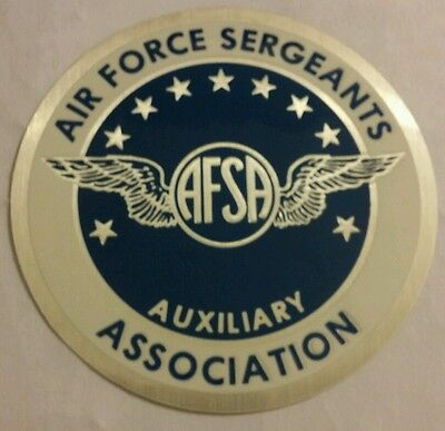 Vintage Air Force Sergeants Association Auxiliary AFSA Decal U.S Air Force