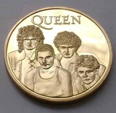 Queen Gold Coin Rock Group n Roll Music Bohemian Rhapsody Movie Film British