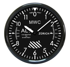 Military-Pattern-Altimeter-Wall-Clock-Manufactured-by-MWC-NO-RESERVE