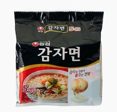 Korean Instant Noodle NONGSHIM GAMJAMYUN Potato Taste Ramen 5pack Set