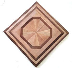 Hardwood flooring medallion 3 4 solid wood inlay 21 for Wood floor medallions
