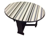 !!SALE!! Upcycled Antique Hand painted striped Drop Leaf Kitchen/Dining table