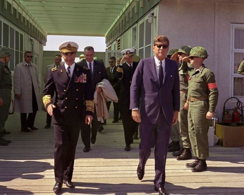 President John F. Kennedy with Shah of Iran at Camp Lejeune New 8x10 Photo