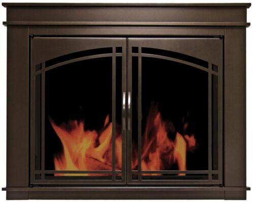Pleasant Hearth Fenwick Cabinet Style Fireplace Screen & Arc