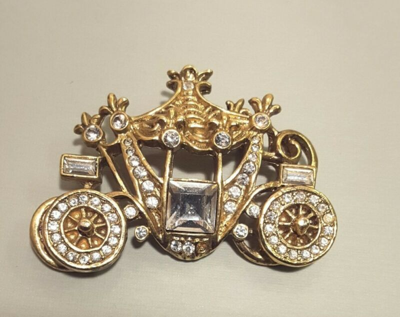Vintage 1928 Cinderella Carriage Brooch
