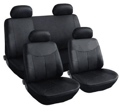 Sitzbezüge Sitzbezug Schonbezüge für Fiat Qubo Dunkelgrau Sportline Komplettset